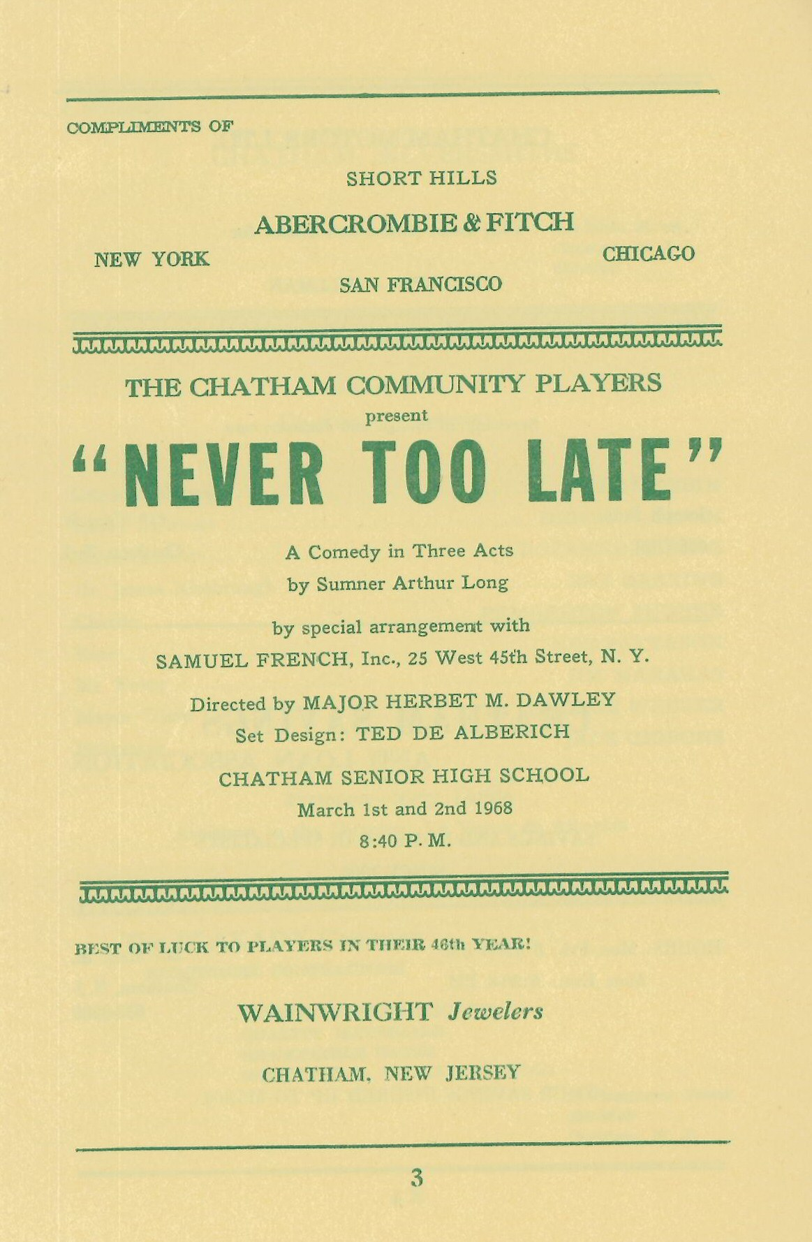 Never Too Late (1967)