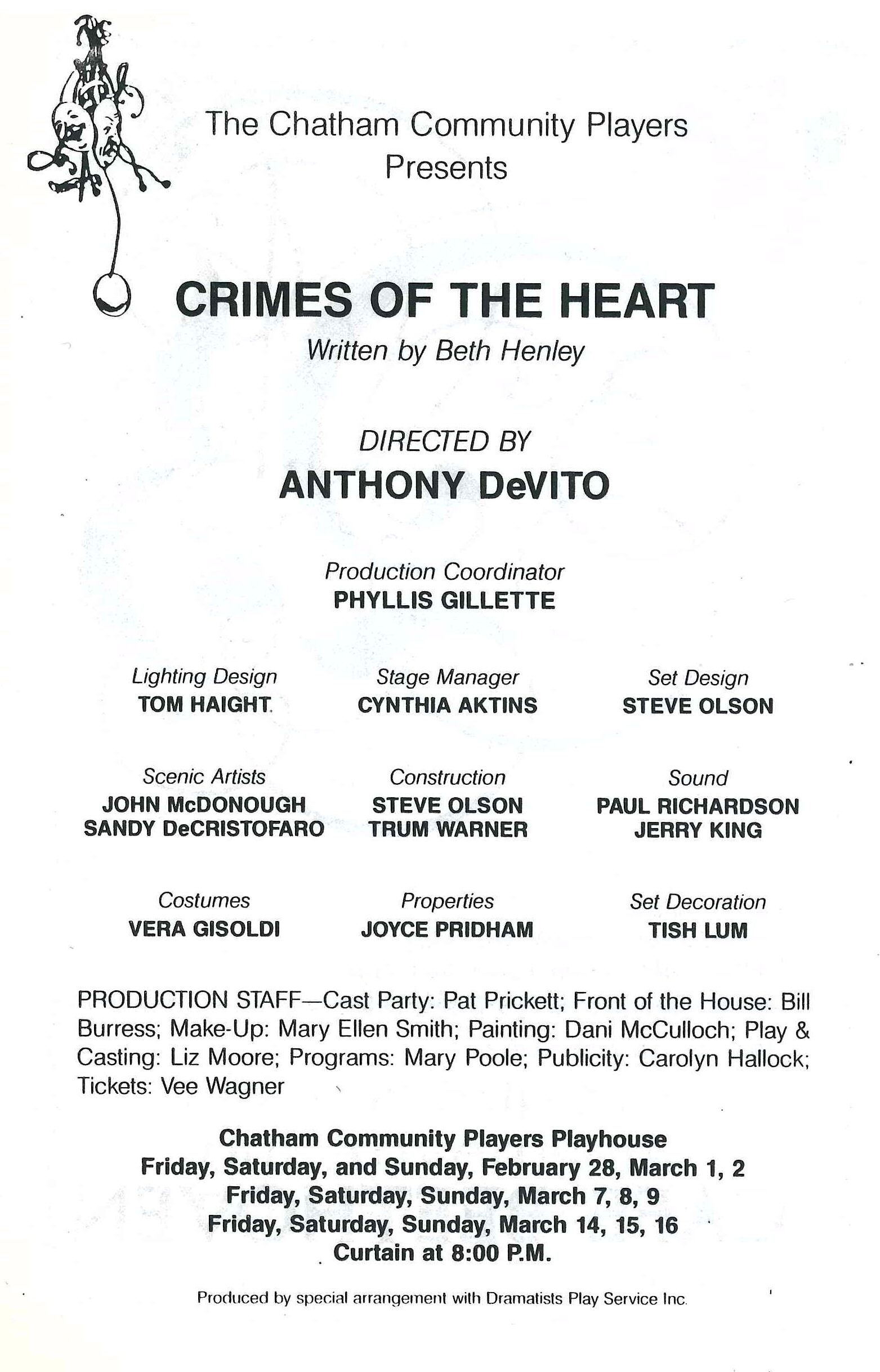 Crimes of the Heart (1985)