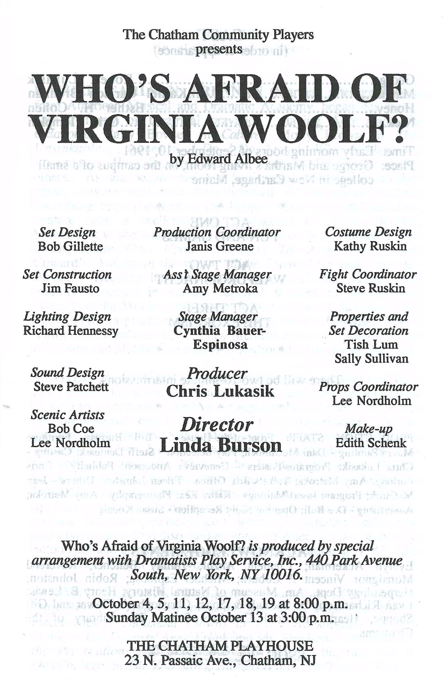 Who's Afraid of Virginia Woolf? (1996)