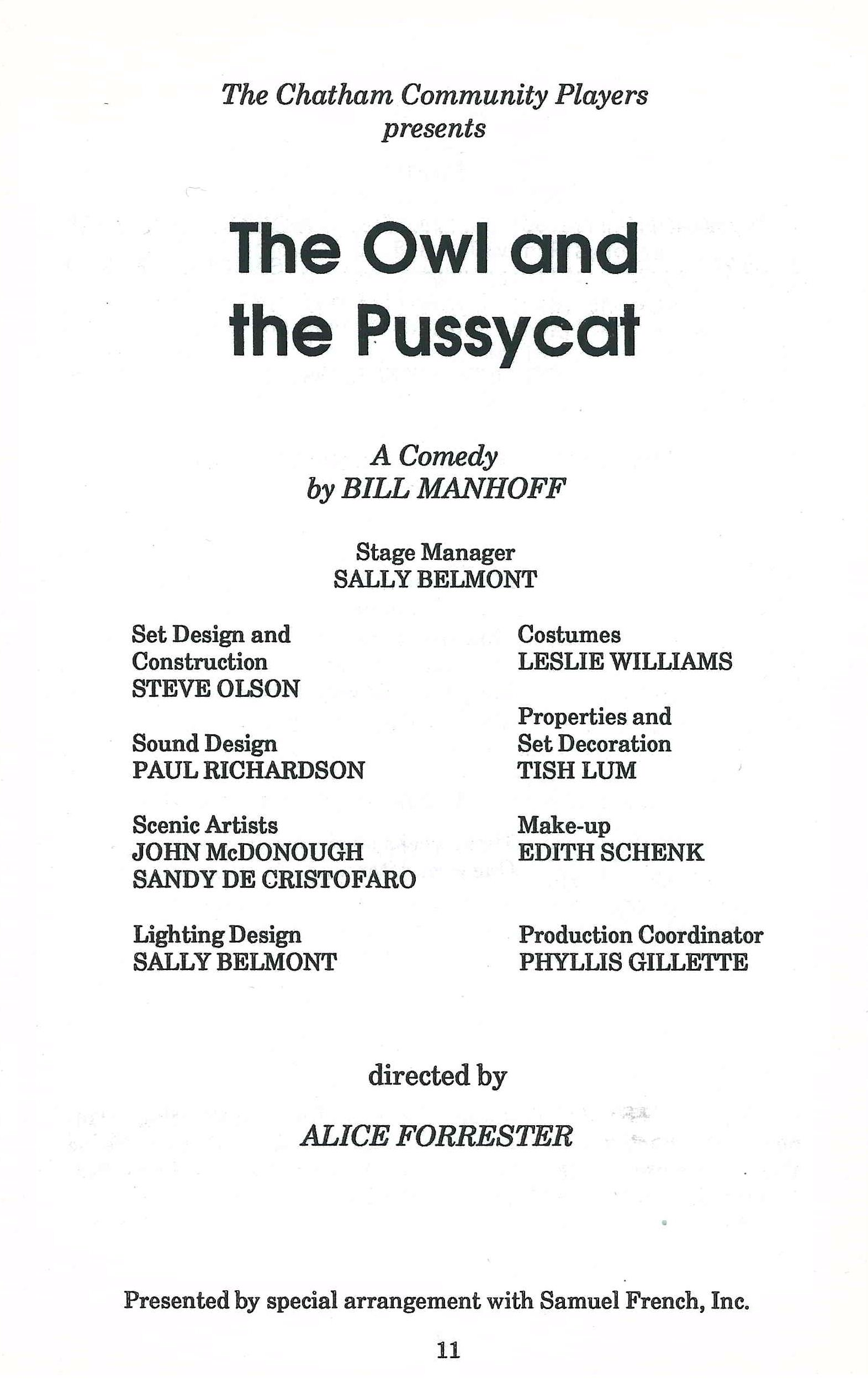 The Owl and the Pussycat (1988)