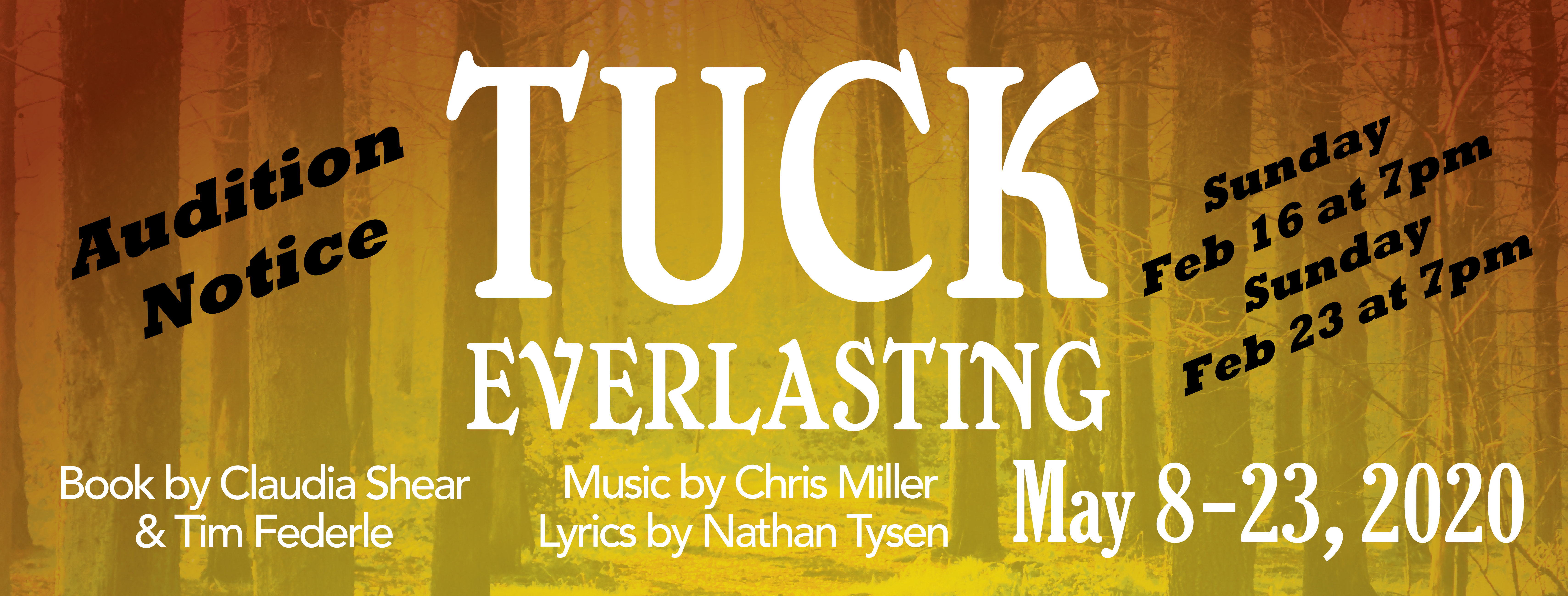 Tuck Everlasting The Musicl Auditions