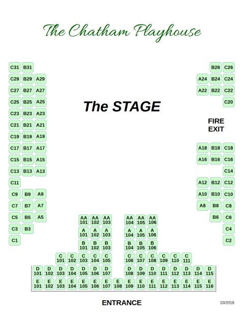 Chatham Playhouse Seating Chart